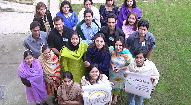 Participants of a human rights training seminar organized by Anthropomania in Pakistan